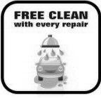 Free clean with every repair